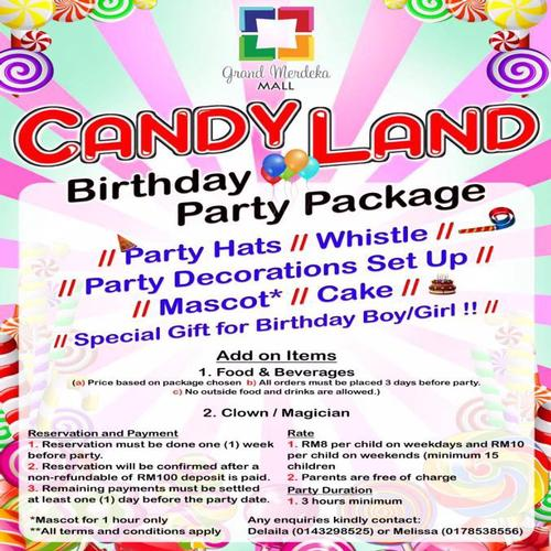 Candy Land - Birthday Party Package