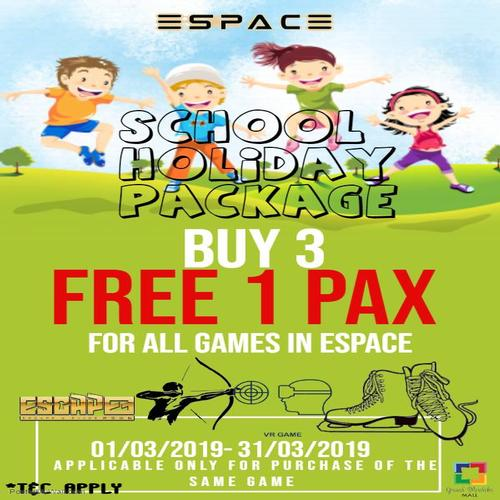 ESPACE - School Holiday Package March 2019