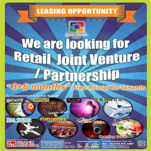 Leasing Opportunity - Retail Joint Venture/Partnership
