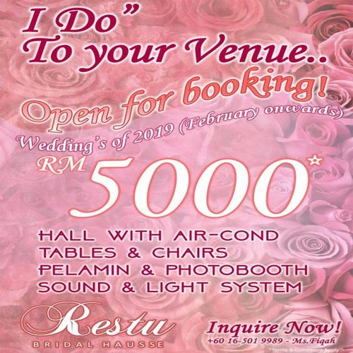 I Do' To Your Venue - Restu Bridal Hausse Promo 2018