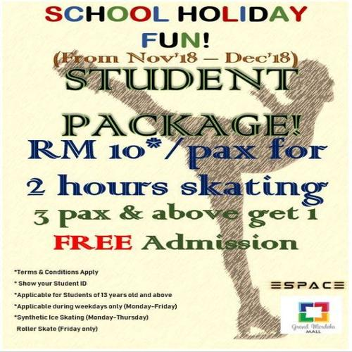 School Holiday Fun! Student Package for Skating - ESPACE