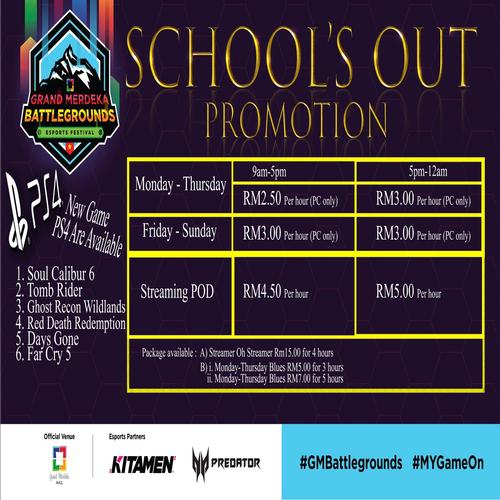 School's Out Promotion 2018 - GM Battlegrounds